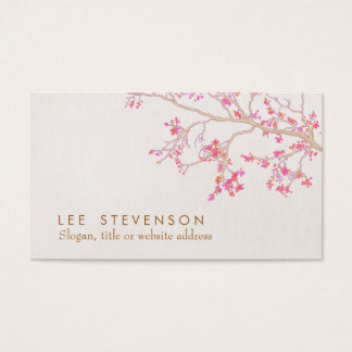 Cute Pink Cherry Blossoms Floral Nature Business Card