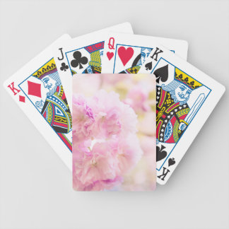 Cute pink cherry blossoms of Japan Poker Deck