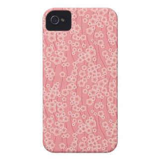 Cute pink cherry blossoms pattern blackberry bold iPhone 4 cover