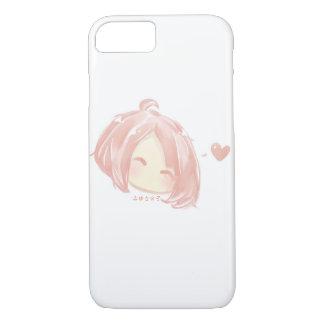 Cute Pink Chibi Face iPhone 7 Case