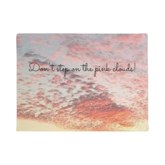 Cute Pink Clouds Sky Sunset Picture Design Doormat