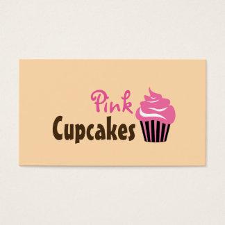Cute Pink Cupcake Bakery Business Card