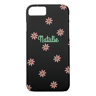 Cute pink daisy flower iPhone 7 case