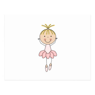 Cute , Pink, Dancing  Ballerina Postcard