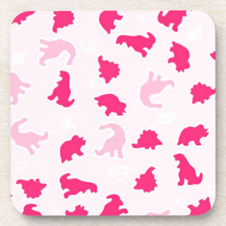 Cute pink dinosaurs coaster