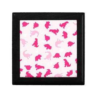 Cute pink dinosaurs gift box