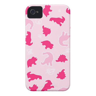 Cute pink dinosaurs iPhone 4 cover