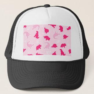 Cute pink dinosaurs trucker hat