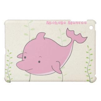 Cute Pink Dolphin Animal Cartoon Illustration Ipad iPad Mini Cases