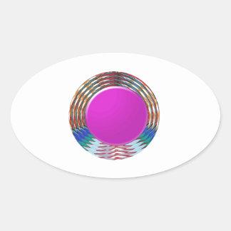 CUTE pink DOT circle BINDI sparkle: LOWPRICE STORE Oval Sticker
