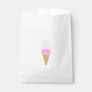 Cute Pink Double Scoop Ice Cream Cone Favour Bags