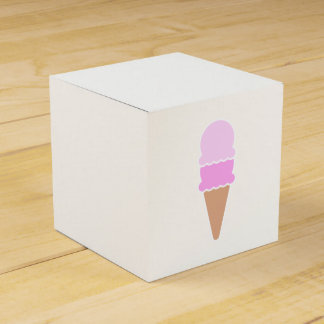 Cute Pink Double Scoop Ice Cream Cone Favour Box