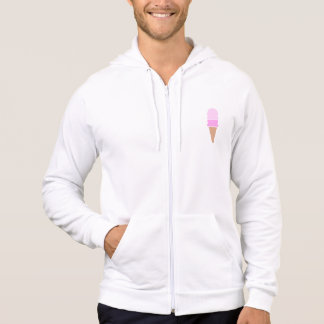 Cute Pink Double Scoop Ice Cream Cone Hoodie
