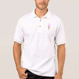 Cute Pink Double Scoop Ice Cream Cone Polo Shirt