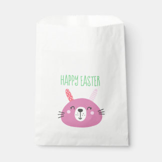 Cute Pink Easter Bunny Favour Bag