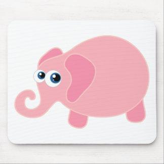Cute Pink Elephant Mousepad