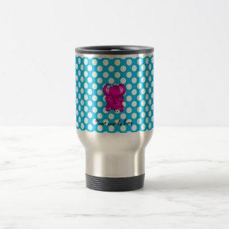Cute pink elephant stainless steel travel mug