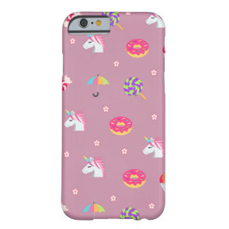 cute pink emoji unicorns candies flowers lollipops barely there iPhone 6 case