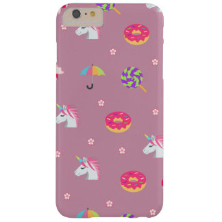 cute pink emoji unicorns candies flowers lollipops barely there iPhone 6 plus case