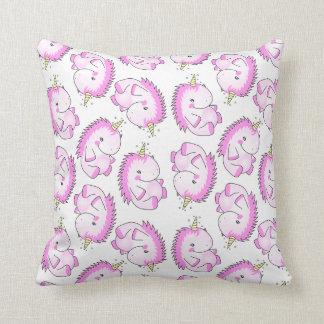 Cute Pink Fat Unicorn Cushion Pillow