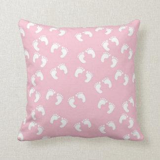 Cute Pink Feet Pillow