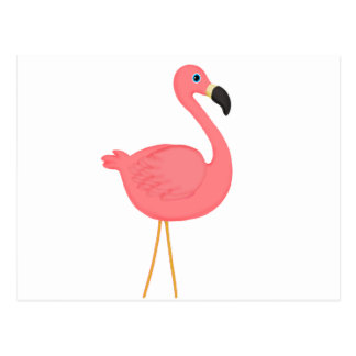 Cute Pink Flamingo Postcard