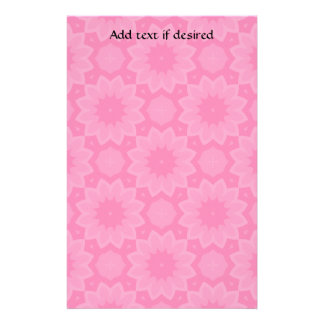 Cute pink floral kaleidoscope customized stationery
