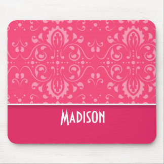 Cute Pink Floral Mouse Pad