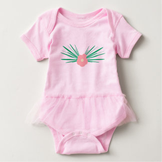Cute pink flower baby bodysuit