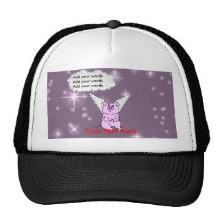 Cute Pink Flying Pig Cap