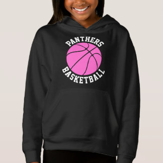 Cute Pink Girls Custom Basketball Sweatshirt