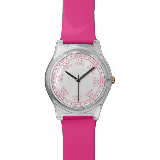 .Cute Pink Girly Design Wrist Watches