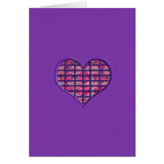 Cute Pink Girly Heart Material Floral Design Note Card
