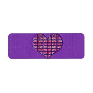 Cute Pink Girly Heart Material Floral Design Return Address Label