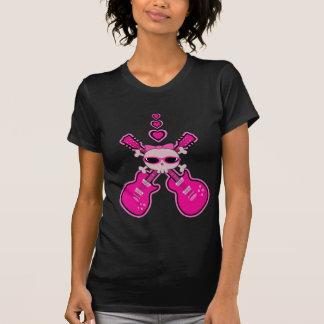 Cute Pink Guitars, Skull & Hearts Tshirts