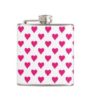 Cute Pink Heart Pattern Love Flasks