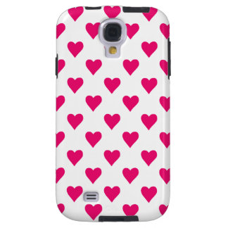 Cute Pink Heart Pattern Love Galaxy S4 Case