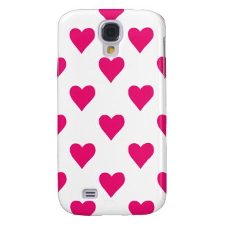 Cute Pink Heart Pattern Love Galaxy S4 Cases