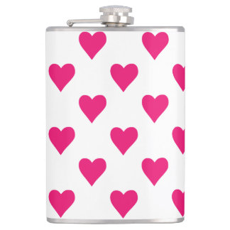 Cute Pink Heart Pattern Love Hip Flask