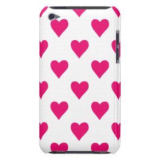 Cute Pink Heart Pattern Love iPod Case-Mate Case