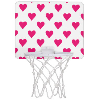 Cute Pink Heart Pattern Love Mini Basketball Hoop