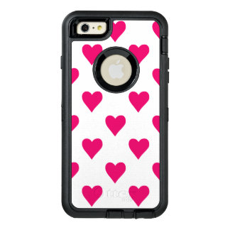 Cute Pink Heart Pattern Love OtterBox Defender iPhone Case