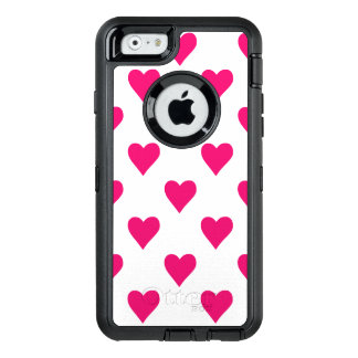 Cute Pink Heart Pattern Love OtterBox iPhone 6/6s Case