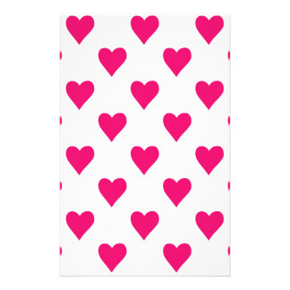 Cute Pink Heart Pattern Love Stationery