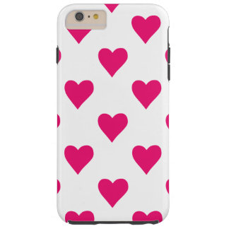 Cute Pink Heart Pattern Love Tough iPhone 6 Plus Case