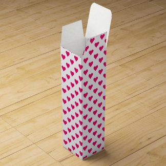 Cute Pink Heart Pattern Love Wine Bottle Boxes