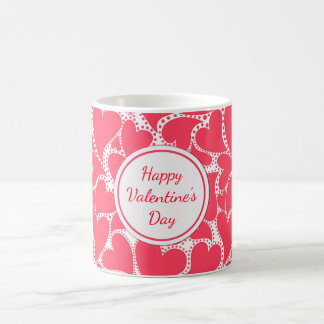 Cute Pink Hearts Coffee Mug