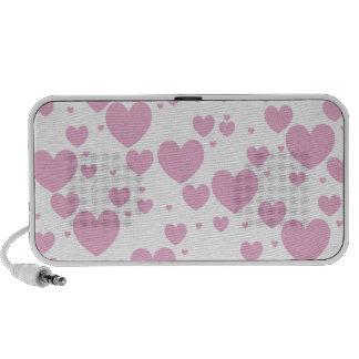 Cute Pink Hearts Doodle Travel Speakers