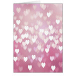 Cute Pink Hearts Greeting Card