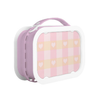 Cute Pink Hearts Pattern Lunch Box